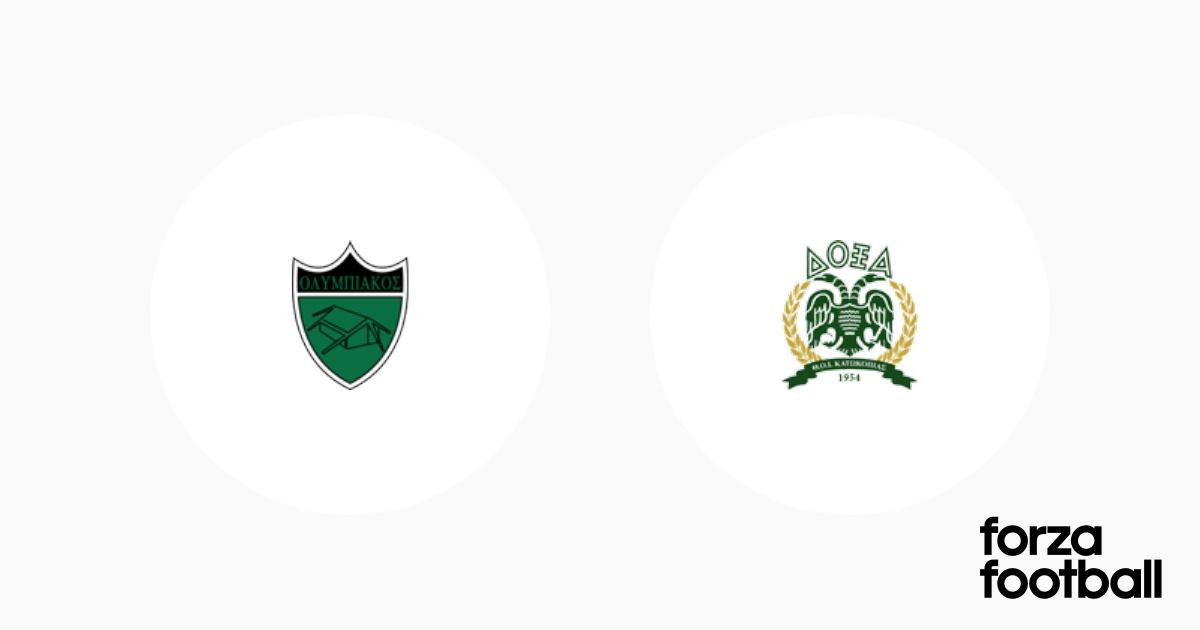 Table Olympiakos Nicosia Doxa Katokopias 1 1 Club Friendly Games 2020 International Clubs Forza Football
